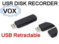 Wholesale voice audio spy recorder resale online - 4GB GB GB USB Flash Driver Spy Hidden Voice Activated Digital Audio Voice Recorder Hours Recording Plastic Package Box