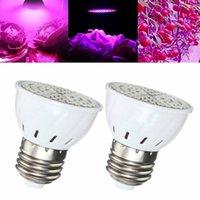 Wholesale Led Ufo Grow E27 - 5W E27 72LED 2835 Full Spectrum Flower LED Grow Light Bulb Plants Lamp Oganic Growing 110V 220V
