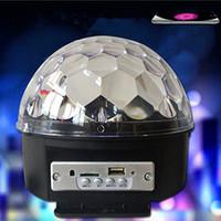 Wholesale Magic Jumping Light Ball - S5Q LED MP3 DJ Disco Party Club DMX512 Crystal Magic Ball Stage 18W RGB Light AAADHU