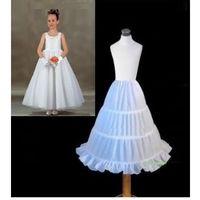 Wholesale Slip Dresses For Girls - New In Stock Cheap Three Hoops Underskirt Little Girls A-Line Petticoats Slip Ball Gowns Crinoline For Flower Girls' Dresses