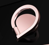 Wholesale Rose Foldable - 360 degree rotatable metal mobile phone ring brackets 180 degree foldable water droplets tablet phone holder