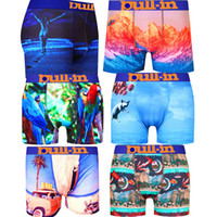 Wholesale Male Lycra - PULLIN Brand Sexy Men Boxer Soft Breathable Underwear Male Comfortable Printed Panties Underpants Cueca Boxershorts Homme For Men PULL IN