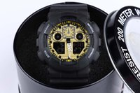 Wholesale Display Shells - free shipping Fashion sports watch ga100 G Display LED Fashion army military shocking watches men Casual Watches with round box