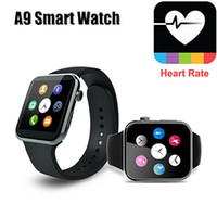 Wholesale Apple Multi Monitor - Multi Languages A9 Smart Watch Bluetooth 4.0 with Heart Rate Monitor For Android & IOS Cellphone with retail package