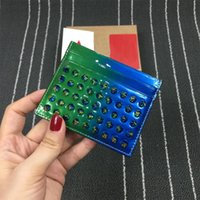 Wholesale Studded Leather Purses - New Arrival Brand Men Women Business Card Wallets More Colour Rivets Purses, Mini Small Studded Money Clips Wallets Spike Purses