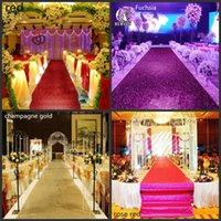 Wholesale Aisle Runner Carpet For Wedding - 33 Feet Shiny Gold Pearlescent Aisle Runner T Station Carpet For Wedding Backdrop Decroation 1.2m Wide