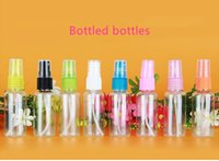 Plastic spraying water bottle - 30ml travel portable sub bottle push type spray bottle plastic transparent pet dispensing small spray bottle small watering can
