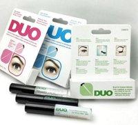 Wholesale Double Eyelash Brushes - DUO Eyelash Adhesives Eye Lash Glue Double Eyelids Glue brush-on Adhesives Vitamins White Clear Black 5g Makeup Tool KKA2243