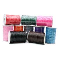 Wholesale Waxed Nylon - 1.5 mm Korea Waxed Cord Multicolor Korea Style Jewelry Wax Nylon Cord Strings 100yard ZYL0003