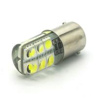 Wholesale S25 Brake Lights - BA15S 1156 LED White Lights 12x5050 SMD Silica gel DC 12V Car Rear Tail Brake Light Lamp s25 Bulb