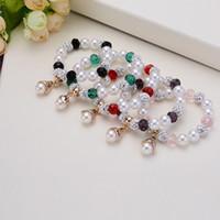 Wholesale Pearl Ball Pendant Bracelet - New Shamballa Crystal Beads Bracelets Macrame Disco Ball Bracelets Jewelry Pearl Pendant charm bracelet