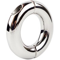 Wholesale Ball Stretching Sex - Stainless steel Penis Cock Ring Glans Penis Stretch Sex Ring Ball Stretcher Sex Toys for Men Delay Ejaculation