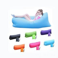 Wholesale Outdoor Inflatable Sofa Beds Air Sleeping Bags Air Lazy Sofa Inflate Beach Camping Portable Hangout Lounger Air Boat Sleeping Bed Hammock
