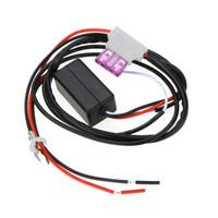 12v переключатель для автомобиля оптовых-Универсальный 12 в автомобиль LED DRL контроллер авто LED дневного света лампы комплект Вкл / Выкл контроллер для авто аксессуары