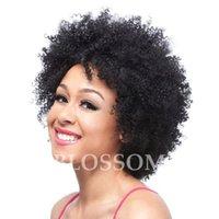 en iyi kıvırcık insan saçı perukları toptan satış-Tutkalsız Tam Dantel Peruk Brezilyalı Afro Kinky Kıvırcık Tam Dantel İnsan Saç Peruk Siyah Kadınlar Için En Iyi Dantel Ön Peruk Bebek Saç Ile