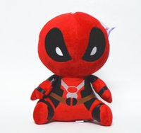 Wholesale Anime Marvel - Cartoon Marvel Deadpool Plush Toy Plush Stuffed Doll 20CM 1PCS With Suction Cup Free Shipping Gift