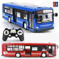 Wholesale Model Bus Toys - RC Car 2017 New 2.4G Remote Control Bus Car Charging Electric Open Door RC Car Model Toys For Children Gifts