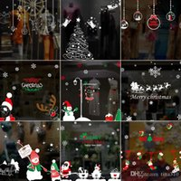 Neue abnehmbare Weihnachten Aufkleber nowflake Shop Fenster Wandaufkleber Vinyl Decal Business Decor Wandmalerei Neujahr Weihnachtsdekoration B0880