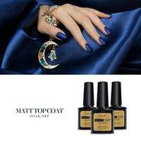 Wholesale Uv Gel Matte Coat - Wholesale- 2016 Hot Sale Matte Gel Top Quality 1 Piece 8 ML Led UV Matte Top Coat Gel Nail Polish Art Tips Dull Finish Top Coat Nail Gel