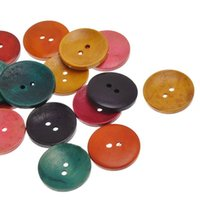 Wholesale wooden buttons wholesale - Wholesale Mixed Round Two holes Wooden Buttons 30mm 50pcs Color Picture Candy Color Large Wood Buttons Garment Accessories