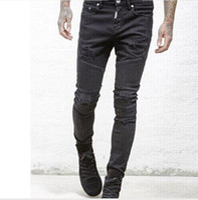 Wholesale Clothing Denim - represent clothing designer pants slp blue black destroyed mens slim denim straight biker skinny jeans men ripped jeans