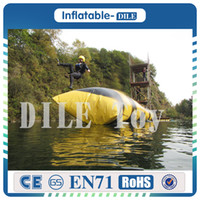 Wholesale beds jump for sale - Group buy m mm PVC Inflatable Trampoline Water Pillo Water Blob Jump Inflatable Jumping Jump Bed On Water