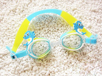 Wholesale Girls Swim Goggles - children Swim eyewear male and female anti fog Big box Swimming Diving goggles cartoon swimming glasses 77