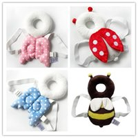 Wholesale Baby Head Cushion - Cute Baby Head Restraints Toddler Protection Pad Fall Headrest Pillow infant child Neck Wings Nursing Safety Drop Resistance Cushion Preve