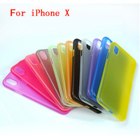 Wholesale Red Transparent Silicone - For iphone X Case Ultra-thin Silicone Transparent Environmental protection PP material Protector Cover Colorful for iphoen 6 7 plus Soft