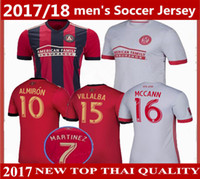e17e2b7b2 MLS Atlanta United jersey 2017 2018 Thai quality home ALMIRON JONES  MARTINEZ soccer jersey 17 18 GARZA VILLALBA MCCANN away football shirts ...