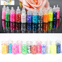 Wholesale Mini Beauty Tools - Wholesale- 12 Pcs lot Mini Bottle Glitter Nail Art Powder Dust Tip Rhinestone Manicure Nails Tools Beauty Accessories