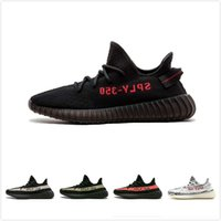 light shoes Canada - with box 350v2 best quality right version sneakers black red copper kanye west shoes running shoes man running shoes size36-48