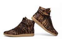 Wholesale Leopard Lace Slip - 2017 Drop ship men sneakers leopard horsehair Casual Men Women Fashion Leisure Shoes low top Flat With Shoes 2017