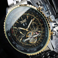 Wholesale jaragar stainless steel mechanical watch - Mens Watches Top Brand Luxury JARAGAR Men Military Sport Wristwatch Automatic Mechanical Tourbillon Watch relogio masculino