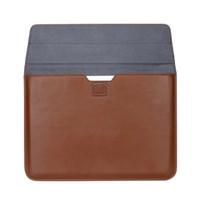 Wholesale 15 Laptop Carry Case - Macbook Laptop Premium PU Leather Case Carrying Bag for Apple MacBook 12 13 15 inch Air Pro Retina Soft Sleeve Shockproof Envelope Bag