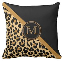 Wholesale Throw Pillow Case Stylish Leopard Print Custom Monogram Squar Sofa Cushions Cover quot inch inch inch quot Pack of X