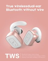 Q5 Mini-Stereo-Headset @ Twins True Wireless Bluetooth In-Ear-Ohrhörer für iPhone Android, Stereo HIFI Klänge Silbe Rruly 10m Reichweite