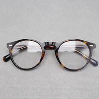 Wholesale Designer Optical Eyewear - 2017 brand designer Oliver Peoples women eyeglasses frame optical Round OV5186 Gregory Peck glasses prescription eyewear for men 6 colors