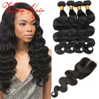 4 Bundles Body Wave Hair Weave With Closure Wet and Wavy Hair Natural Indien Brazilian Peruvian Malaysian Virgin Hair Bundle Deals