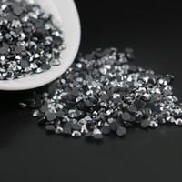 Wholesale Diamonds Hotfix - DMC Hotfix Silver Hematite Round Rhinestone SS6,SS10,SS16, 1440pcs lot, Iron on Hot Fix Crystal Rhinestones Diamond Gems (Silver Hematite)