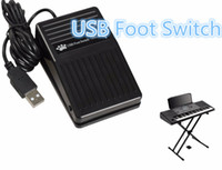 Wholesale Pc Usb Foot Switch - Wholesale-Portable New USB Foot Control Keyboard Action Switch Pedal HID PC FPS-P