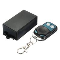 transmissor 2ch rf venda por atacado-Venda por atacado- EDT-12V DC Canal 2CH Transmissor RF Sem Fio Controle Remoto Transmissor + Receptor