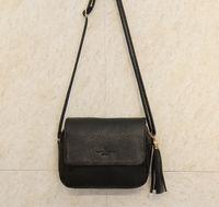 Wholesale Cheap Cute Ladies Bags - Wholesale-Cute Women Bag Leather Luxury Handbags Ladies Black Purse Small Bag Fringe Cheap Messenger Bag Designer Case Crossbody Bags
