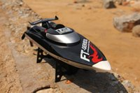 Atacado-Hot Venda New FT012 Upgraded FT009 2.4G Brushless RC Controle Remoto Racing Boat Toy
