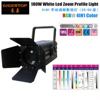 Wholesale Auto Cooling Systems - TIPTOP TP-016 Stage 180W Led Zoom Studio Light RGBW 4IN1 Heat Dissipation Pipe Cooling System High Speed Blowing Fan Manual Zoom