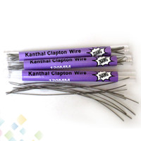 Wholesale 22 Wire - 10 pcs in a Tube Clapton Wire 120MM 22*32g 24*32g 26*32g 28*32g 32*32g Resistance Wire Clapton Wire Electronic Cigarette DHL Free