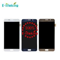 замена сенсорного экрана оптовых-Оригинальный ЖК-дисплей для Samsung Galaxy Примечание 5 сенсорный экран высокого качества замена блока n9200 чехол N920купленный N920T N920A+Бесплатная доставка