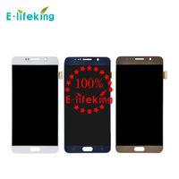 ücretsiz olarak not toptan satış-Samsung Galaxy Not 5 Için orijinal LCD Dokunmatik Ekran Digitizer Ekran Yüksek Kalite Meclisi Yedek N9200 N920 N920T N920A + Ücretsiz Kargo