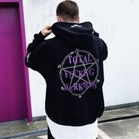 Wholesale Vetements Black Graphic Pentacle Hoodie Hip Hop Men Women Oversized Skateboard Sweatshirt Long Sleeve Hooded Pullovers Streetwear YYF1125