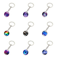 Wholesale folk star - Brand new Galaxy Star Time Gemstone Keychain Pendant Foreign Trade Jewelry Key Chain R146 Arts and Crafts mix order